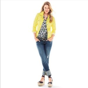 CAbi Yellow Field Of Daisies Field Jacket